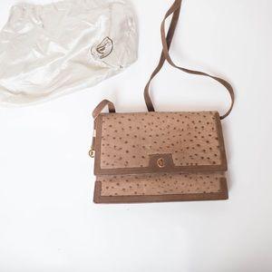Vintage leather CASTIONI BAGUETTE HANDBAG Italy